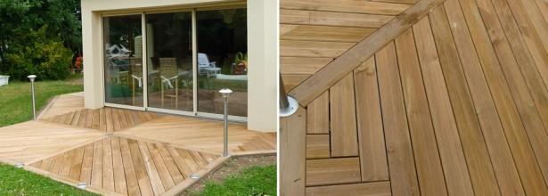 Installation d'une terrasse bois et composites à Angers 49